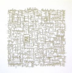 Shona Wilson, assemblage, Patternation No. 4   fern & wing