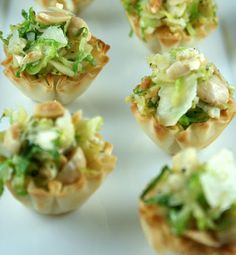 Shaved Brussels sprout bites | HellaWella #holidayfood #appetizers #partyfood