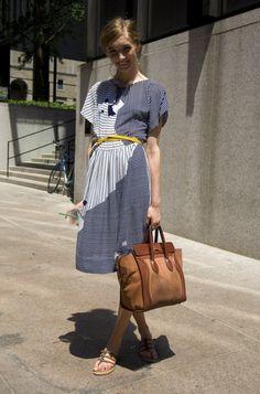 Yellow belt & celine handbag