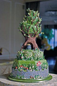 Leprechaun hideout cake