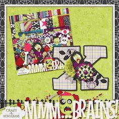Scrapbooking TammyTags -- TT - Designer - Crazy For Monograms,  TT - Item - Alphabet, TT - Theme - Halloween, TT - Style - Monogram