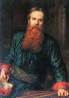 William Holman Hunt OM (2 April 1827 – 7 September 1910) was an English painter, and one of the founders of the Pre-Raphaelite Brotherhood. (self portrait 1867)