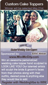 Wedding Giveaway - Win a custom cake topper for your wedding in this contest!