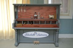 repurposed piano bar | repurposed piano bar by Bluebelle Vintage paintes in Maison Blanch ...