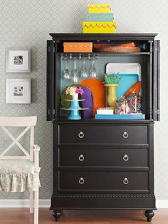 decor, dining rooms, idea, organ, tv cabinets, furnitur, diy, armoires, small space storage