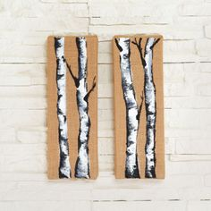 Natural Stretched Burlap Canvas - Paint a forest of birch trees on stretched burlap canvas. This art piece will look great hanging from your wall!