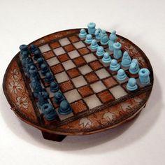 miniature chess set