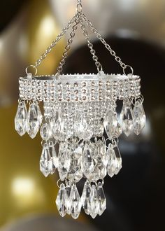 Mini Sparkle Chandelier. String up tiny chandeliers and add more glam to the baby shower.