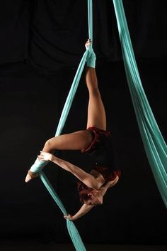 ONE DAY I will be strong enough to be an aerial dancer. I am determined.