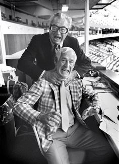 The two BEST ANNOUNCERS in Cardinals Baseball History.....Harry Carey & Jack Buck