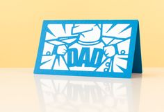 Father's Day Dad Superhero Card. Make It Now in Cricut Design Space