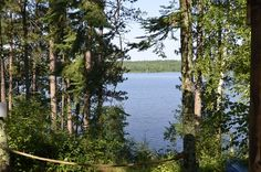 Beautiful views overlooking Lower Clam Lake in the Chequamegon National Forest. http://clamlakewi.com/bearcabinrentallowerclamlakewi.htm