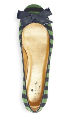 Flats with stripes perfectly compliment when paired with that classy dress or casual jeans! #WWLoves