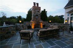 grill, backyard idea, dream, garden design ideas, hot tubs, outdoor fireplaces, outdoor spaces, backyards, fire pit