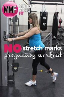 No Stretch Marks Pregnancy Workout | Michelle Marie Fit