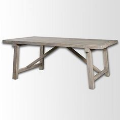 Wooden Truss Dining Table