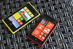 The Nokia Lumia 920 and Lumia 820