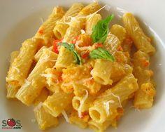 Recette - Pâtes à la sauce aux poivrons | SOS Cuisine