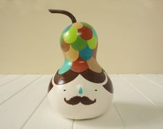 Godino  OOAK Hand painted gourd by SombrillaVerde on Etsy