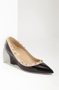 Valentino 'Rockstud' Wedge available at #Nordstrom