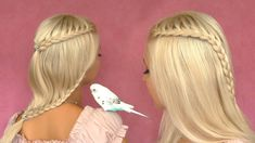 French lace braid tutorial Cute hairstyle for short medium long hair (+p...