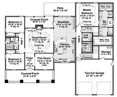 This is very close to a perfect house plan