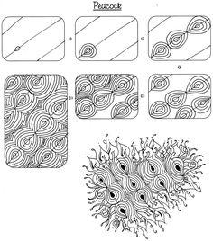 Peacock - Zentangle Pattern