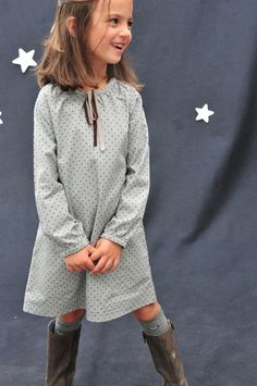 Fall Girls :: Dresses :: Anouk Dot Natalie Dress - CHILDREN'S CLOTHING | Children's Designer Clothing, Kids Clothes, Girls Clothing and Classic Kids Clothing by Olive Juice