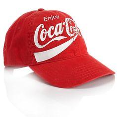 Coca-Cola Curved-Brim Adjustable Baseball Cap