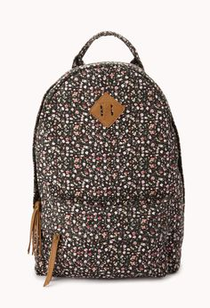 Garden Party Floral Backpack | FOREVER21 Get prepped for the new school year! #Floral #Bag #Accessories #Backpack