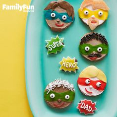 Fantastic Fathers: Let Dad or Grandpa know you think he's incredible with a personalized superhero cookie.