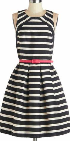 striped flare dress