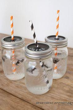 Mason Ball jar glass tutorial by www.apartmentapothecary.com