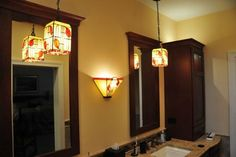 Bathroom Panels With Matching Lamps - by Touch-o-Glass