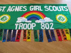 Girl Scouts/Boy Scouts/Campfire Troop banners- personalized. $50.00, via Etsy.