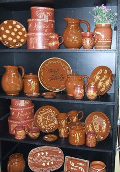 Beautiful redware pottery