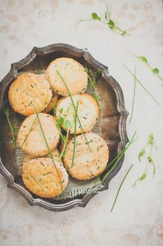 Goat Cheese & Chive Biscuits | KiranTarun.com