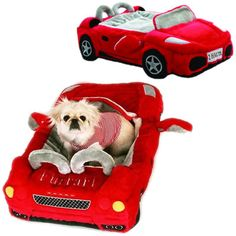 Furrari Bed – FunStuffForDogs.com Online Store  This would be perfect for Henry!