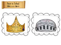 Back to School princess crown craft and knight helmet craft!