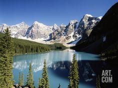 Wenkchemna Peaks and Moraine Lake, Banff NP, Alberta, Canada Photographic Print by Adam Jones at Art.com