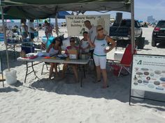 Registration tent ....