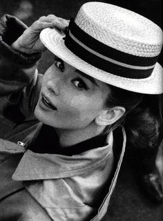 B & W of Audrey