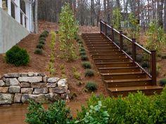 Backyard pressure treated stairs