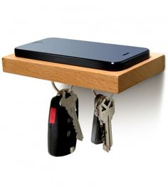 PLANK by ilovehandles - $29.95 for a floating shelf to hold your essentials.