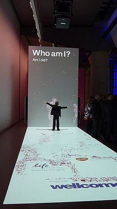 GREAT entrance into the entire museum.  LOVE this...maybe it starts with Welcome and then on the white part it has friends names, family names, your favorites (color, food, hobbies)...LOVE