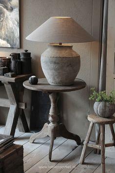 wonen landelijke stijl on Pinterest  Rustic Lamps, Belgian Style and ...