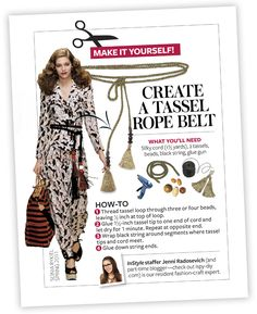 Tassel Belt - InStyle DIY