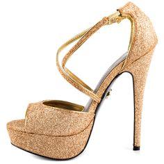 Yvonne - Gold Metallic  Adrienne Maloof $109.99
