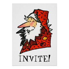 Santa Invite by Paul Stickland for ChristmasStore on Zazzle