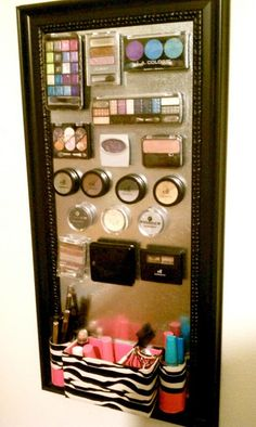 DIY magnetic make-up board.. Just made this today!!